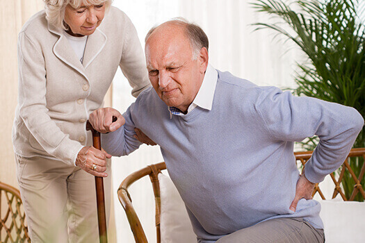 How to observe elderly about back pain